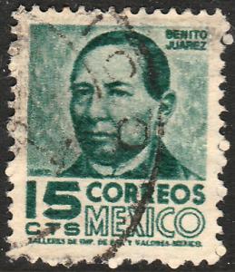 MEXICO 859, 15c 1950 Definitive wmk 279 Used (287)