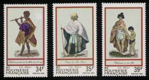 Fr. Polynesia Costumes 1st series 3v 1983 MNH SG#398-400