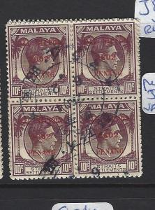 MALAYA JAPANESE OCCUPATION PENANG (P0509B) DN PENANG 10C SG J82 BL OF 4   VFU