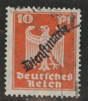 Germany Scott o55 used Official overprint 1924