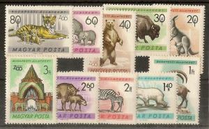 Hungary 1961 Budapest Zoo Animals SG1916-1925 MNH