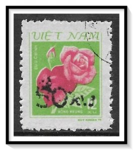 Vietnam North #1385 Rose Surcharged CTO