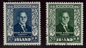 Iceland  SC#274 Mint, #275 Used F-VF...An Amazing Island!