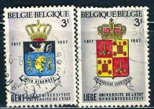 Belgium; 1967: Sc. # 694-695: O/Used Cpl. Set