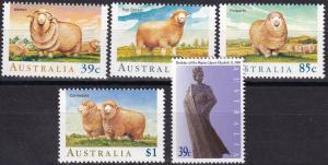 Australia #1136-40  MNH CV $6.35  (A19587)