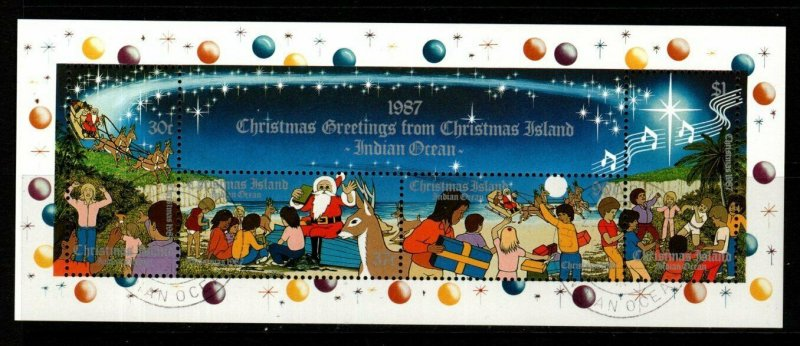 CHRISTMAS ISLAND SGMS245 1987 CHRISTMAS FINE USED