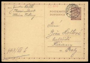 3rd Reich Germany 1940 Theresienstadt Gestapo Kleine Festung Prison Cover  89521