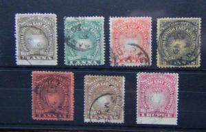 British East Africa 1890 - 1895 values to 1r Carmine Used