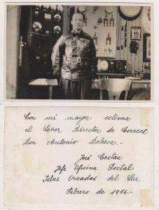 ARGENTINA 1946, FEBR. REAL PHOTO OF THE CHIEF OF PO IN ORKNEY ISLANDS ANTARTIC