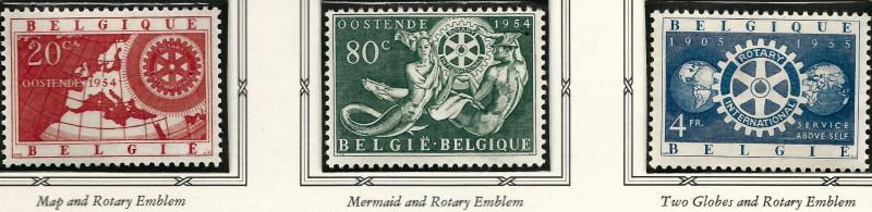 Rotary International Belgium 479-81 MNH F-VF...High Quality Collectable!