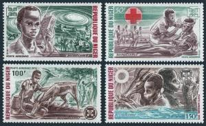 Niger C206-C209,MNH.Michel 370-373. Boy Scouts,Red Cross,Gazelle,Bird.