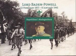 Madagascar - 2018 Lord Baden-Powell Scouting - Souvenir Sheet 13D-231