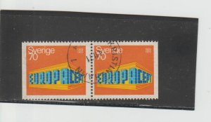 Sweden  Scott#  816  Used Pair  (1969 Europa)