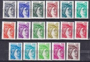 France #1560-70, 1572-7 MNH  CV $9.05 (Z2564)