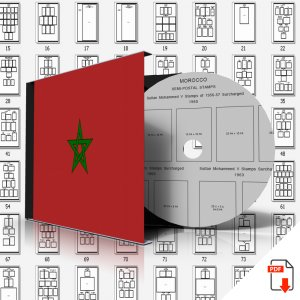 MOROCCO STAMP ALBUM PAGES 1956-2011 (143 PDF digital pages)