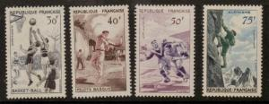 FRANCE SG1297/300 1956 SPORTS MOUNTED MINT