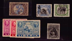 GEMANY COLONY STAMPS DEUTSCHE WEST AFRICA PAQUEBOT CANCEL USED LIBERIA STAMPS