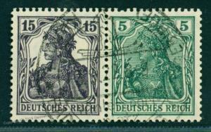 Germany Empire Germania Mi W9aa Zusammendruck ZSD Se-Tenant  Expertized 74126