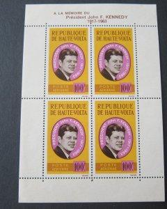 Burkina Faso 1964 Sc C19a John F Kennedy set MNH