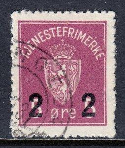 Norway - Scott #O8 - Used - SCV $1.50