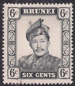 Brunei 1964 – 72 QE2 6ct Sultan Omar MNG SG 122b ( F641 )