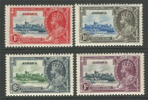 Jamaica 1935 KGV Silver Jubilee Set Of Stamps unmounted mint