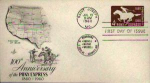 United States, Postal Stationery, First Day Cover, Missouri