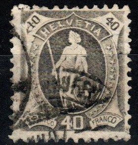 Switzerland #85 F-VF Used  CV $40.00  (X1415)