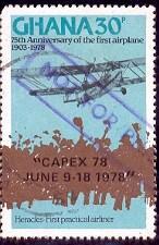 Plane, Crowd, Heracles, 1st Practical Airliner, Ghana SC#651