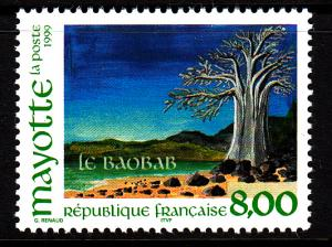 Mayotte MNH Scott #127 8fr Baobab tree