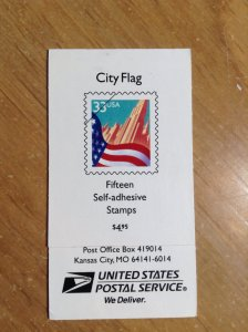 United States  #  3278F  x15  MNH  complete booklet