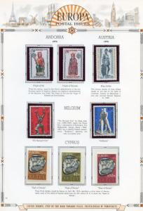 EUROPA  1974  SELECTION OF MINT NH STAMPS AND SOUVENIR SHEETS AS SHOWN