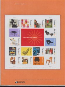 US #817 (42c) Charles & Ray Eames #4333 USPS Commemorative Stamp Panel