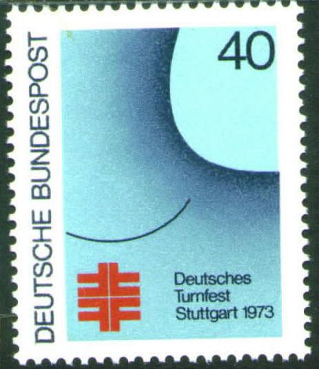 Germany Scott 1105 MNH** 1973 Turner Festival stamp