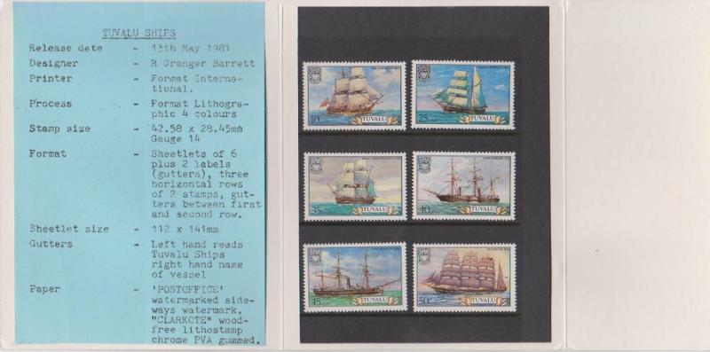 Tuvalu 1981 Ships Post Office Pack