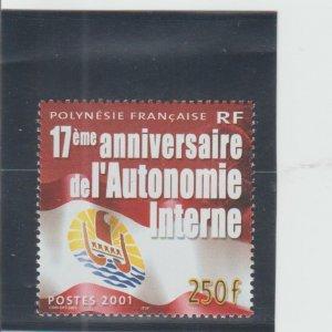 French Polynesia  Scott#  804  MNH  (2001 Internal Autonomy)
