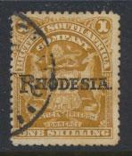 British South Africa Company / Rhodesia  SG 107c Used OPT  Rhodesia see scan