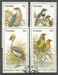 TRANSKEI, 1980, Complete set, CTO Birds.Scott 79-82