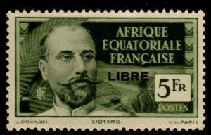 French Equatorial Africa - Scott #121 Mint Libre Overprint 1941