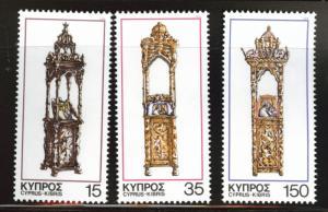 Cyprus MNH 508-10 Christmas Stands 1978