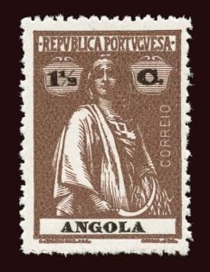 ANGOLA Scott #121 1914 Ceres perf. 15 x 14 unused HR, perf issues