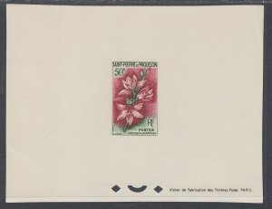 St Pierre and Miquelon 361 Flower Proof NH VF
