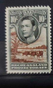 Bechuanaland George VI 10/- Black & Brown  SG128 Mounted Mint C/V £30.00