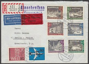 GERMANY 1962 Registered Express cover - nice franking.......................B347