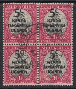 KUT, Sc 86 (SG 151), used block of four