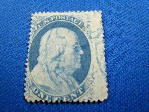 UNITED STATES, 1857 SCOTT #24  -  USED Type V  (#2)