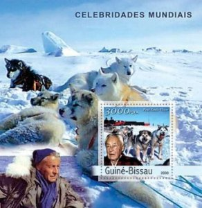 Guinea-Bissau - Paul-Émile Victor & Antarctic Stamp S/S  GB3345