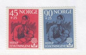 Norway Sc B64-5 1960 Refugee Year charity stamps NH