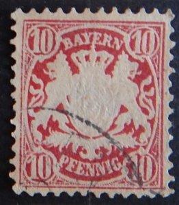 Germany, Bavaria, Bayern, 1876-1878, SC #41A5, VC $190 (2174-Т)