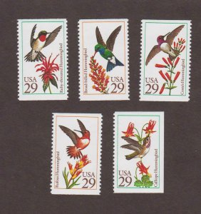 US,2642-46,HUMMINGBIRDS,1990'S COLLECTION,MINT NH VF